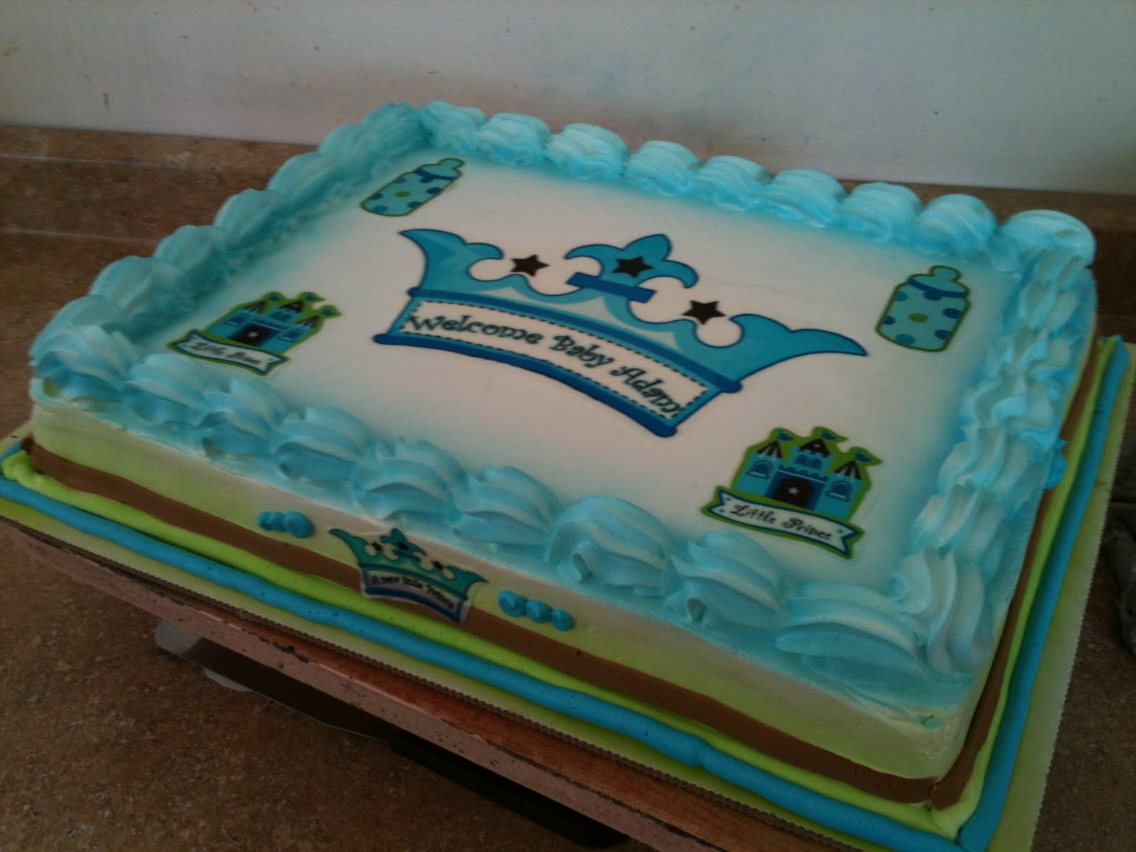 Hector s Custom Cakes boy baby prince baby shower