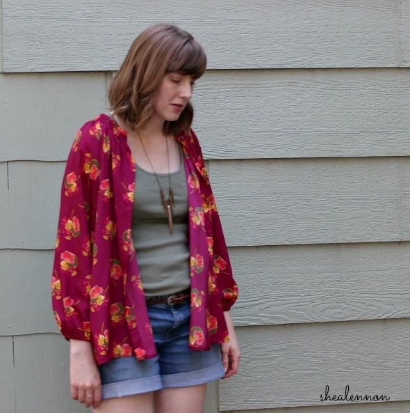 Re-purpose a blouse as a kimono jacket | www.shealennon.com