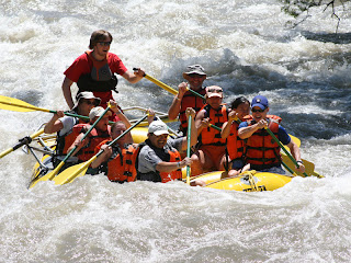 Whitewater rafting: Sinking into the first big hole!