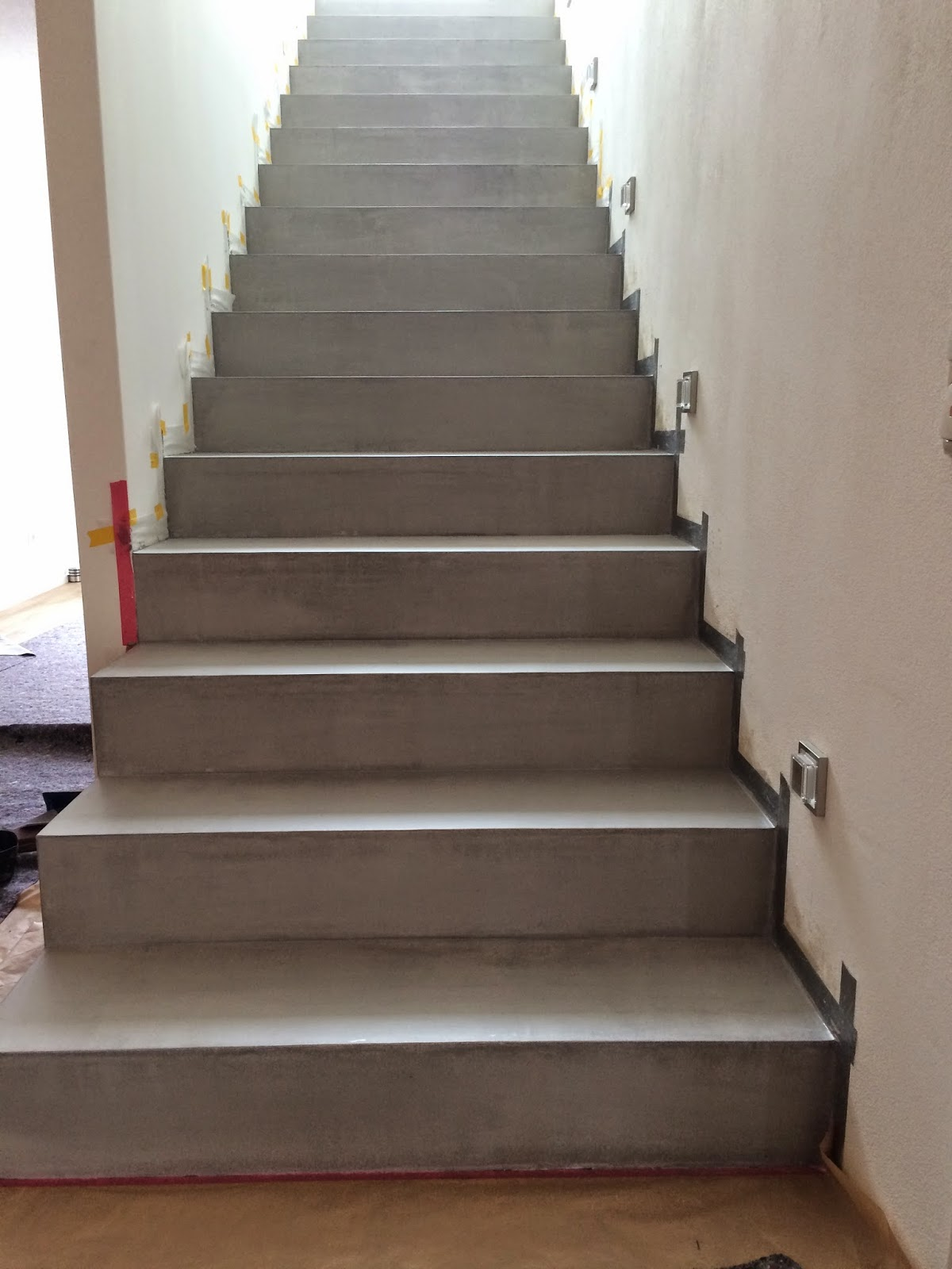 Beton cire oberfl chen in beton look betontreppen - Betontreppe kaufen ...
