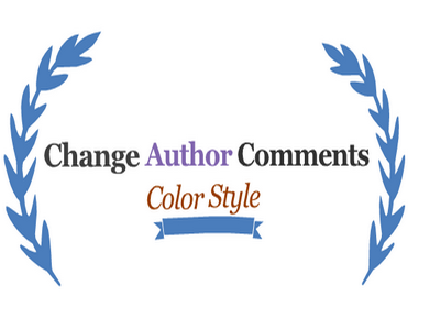 Change Author Comments Color Style