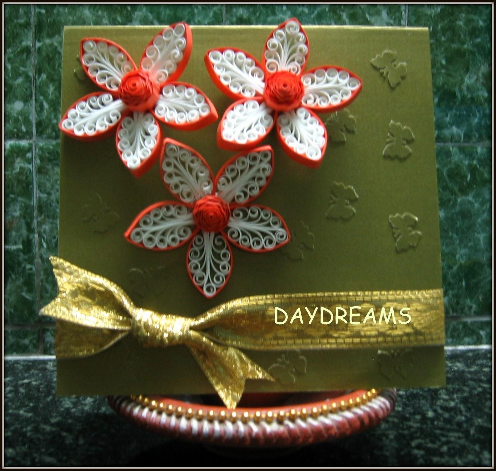 Daydreams quilled royal flower card img1002g mightylinksfo