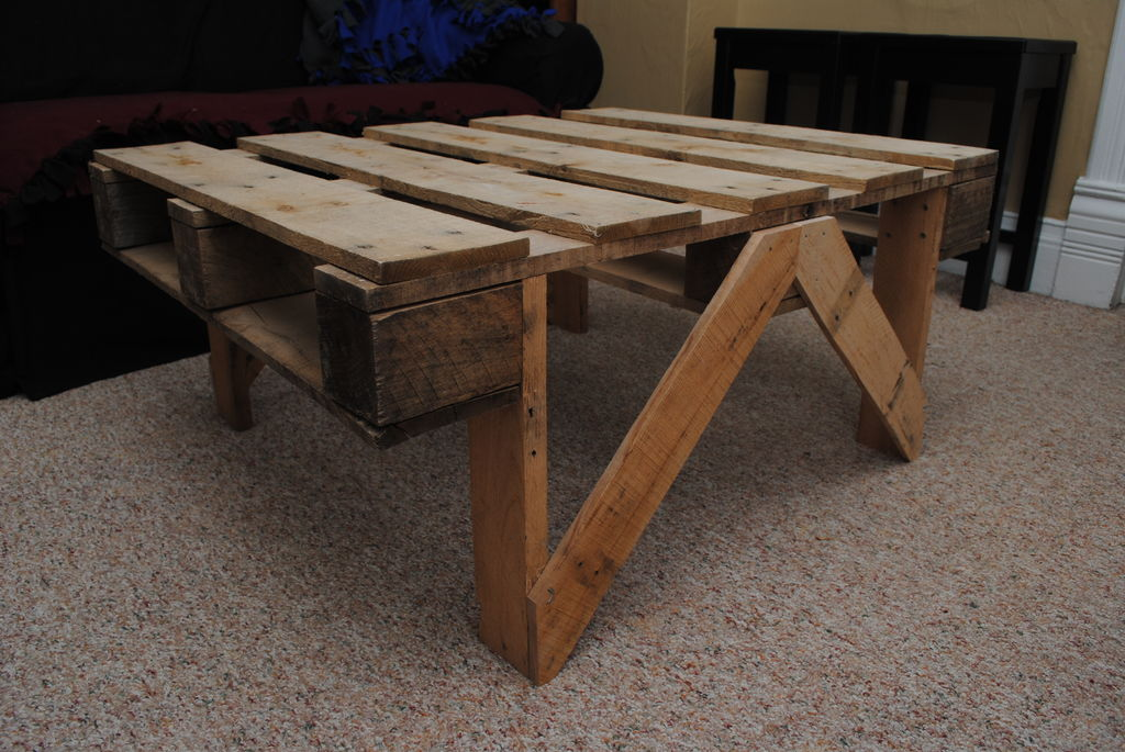 Mesas for Make a coffee table out of pallets
