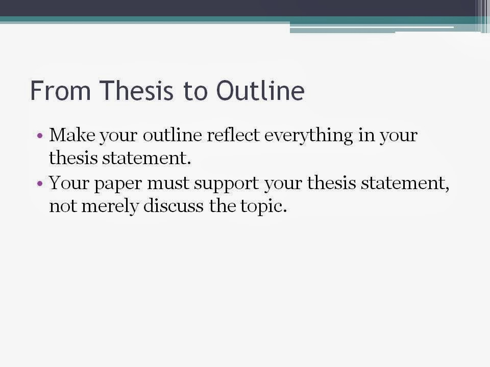 topics for writing thesis statements