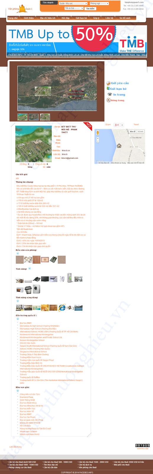 Chi tiết mẫu website bds