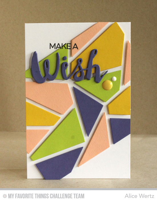 Jaunty WIsh Card by Alice Wertz featuring the Laina Lamb Design Count the Stars stamp set and Stars & Wishes Die-namics as well as the Abstract Cover-Up Die-namics #mftstamps