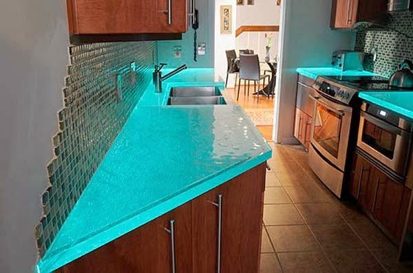 Modernos y Elegantes Muebles de Cocina con Vidrio