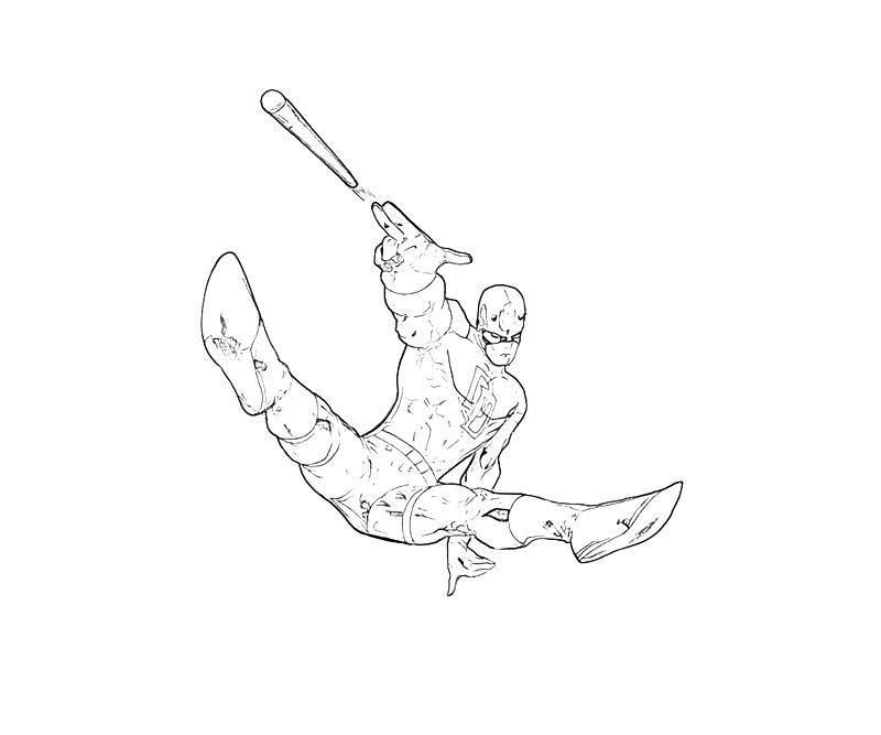 Printable X-Men Daredevil Action Coloring Pages title=