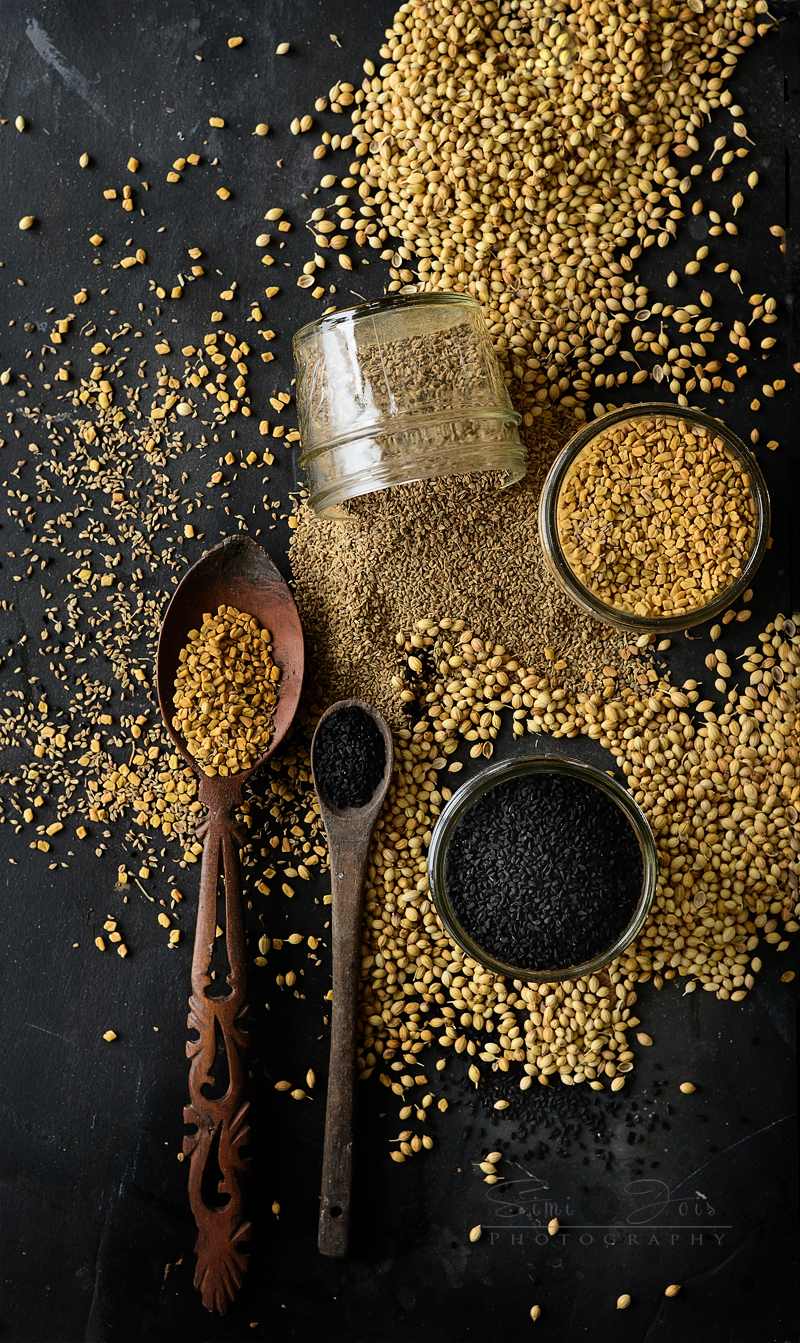 Spices, Spices uses, spices description, food photography