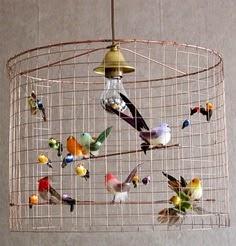 lampara de techo bird cage