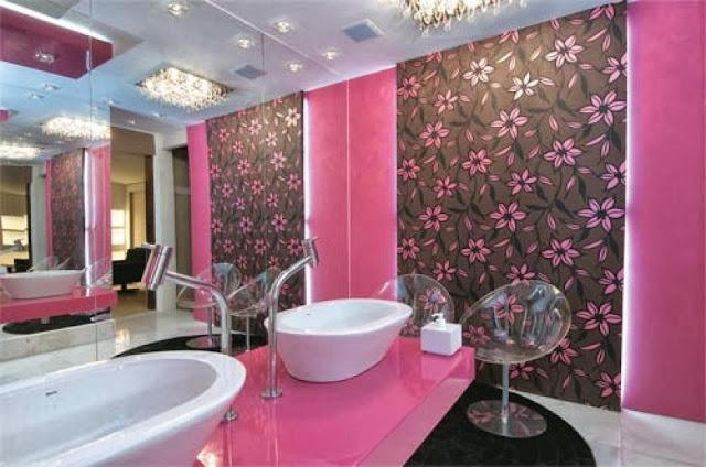 Decoração Banheiros  Mari Beleza Pura -> Banheiro Feminino Chique