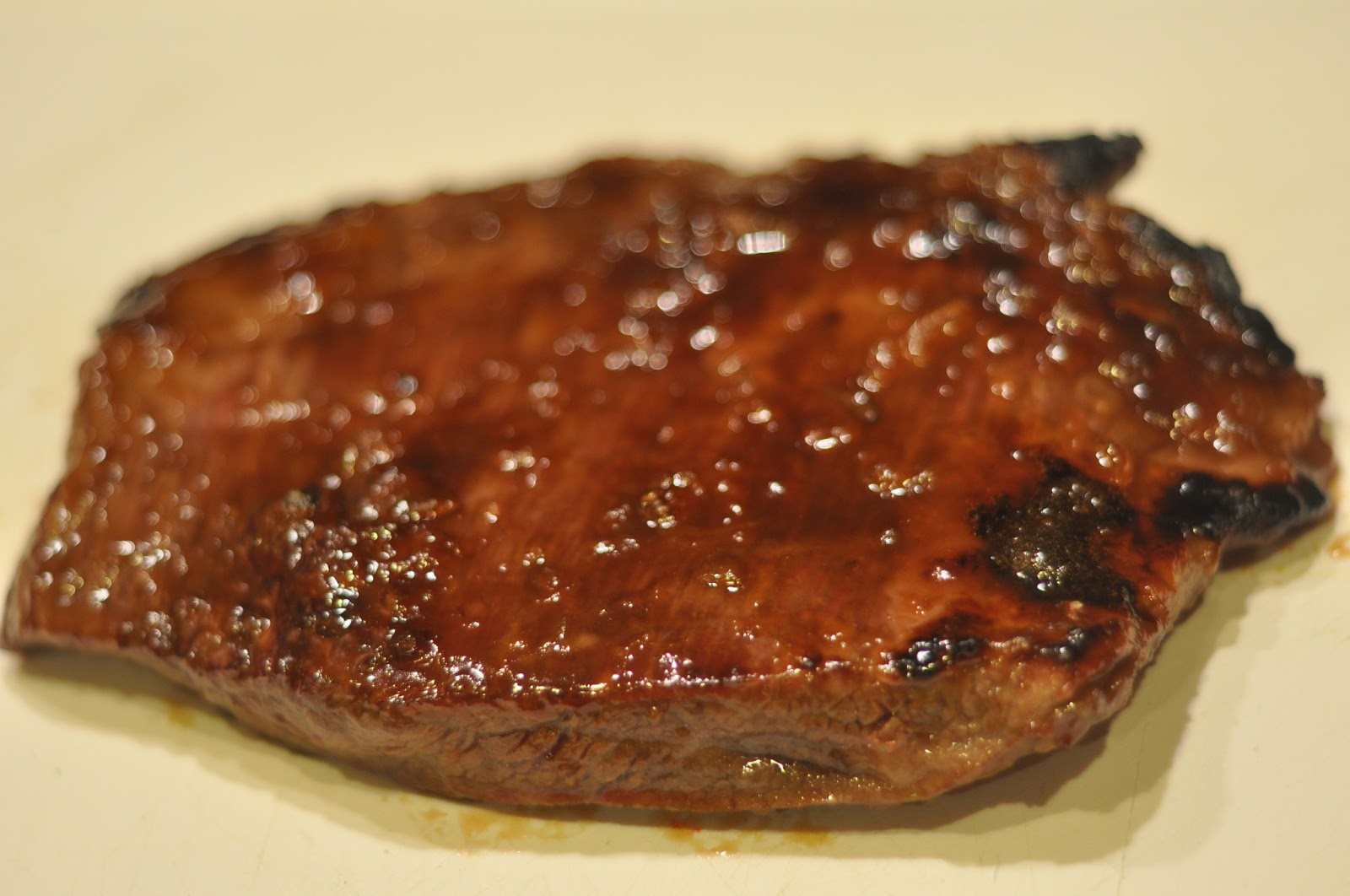 Cooking and Entertaining with Leah: Bourbon Peach Glazed Flank Steak