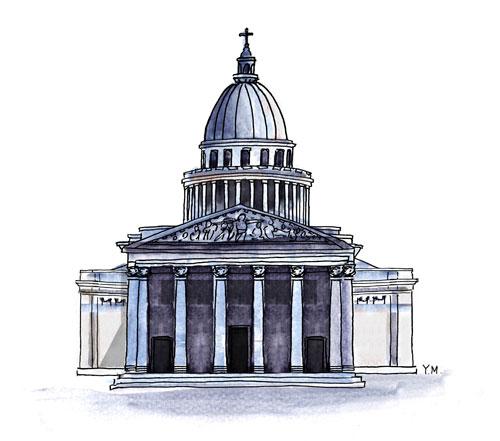 Panthéon Paris by Yukié Matsushita