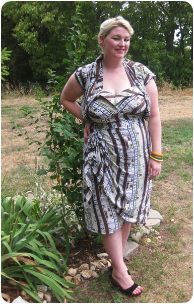 sew a plus size pin up tiki dress