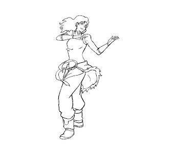 #9 Korra Coloring Page