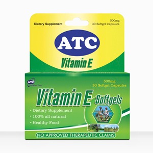 vitamin E, ATC softgels
