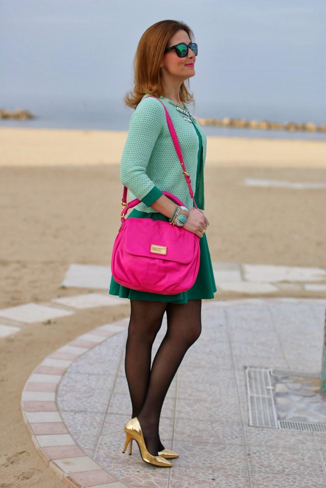 Jeweled cardigan, Marc by Marc Jacobs lil ukita bag, Giorgia and Johns, Fashion and Cookies, fashion blogger