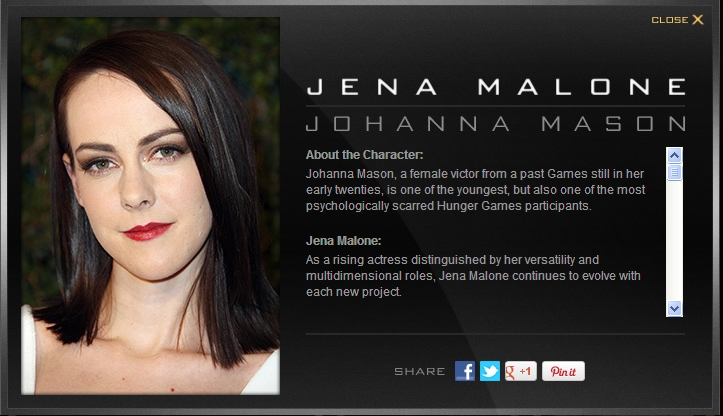 District 7 Hunger Games Actress