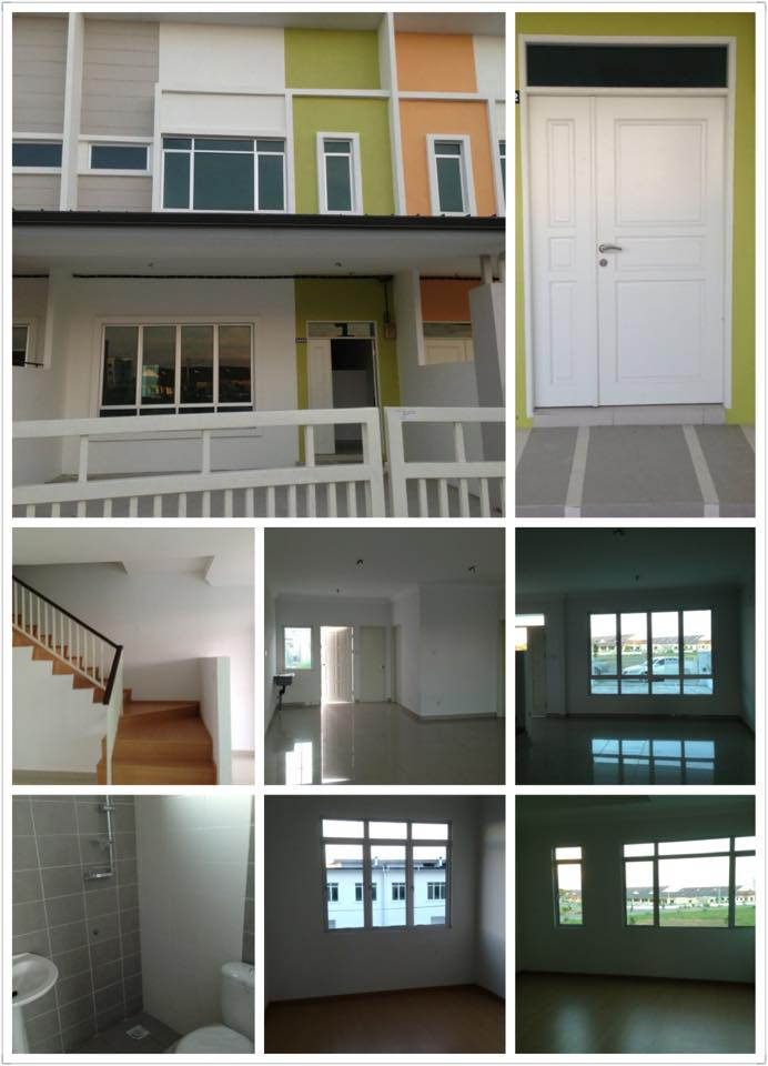 Double storey terrace citrus series house for rent miri for Terrace house series
