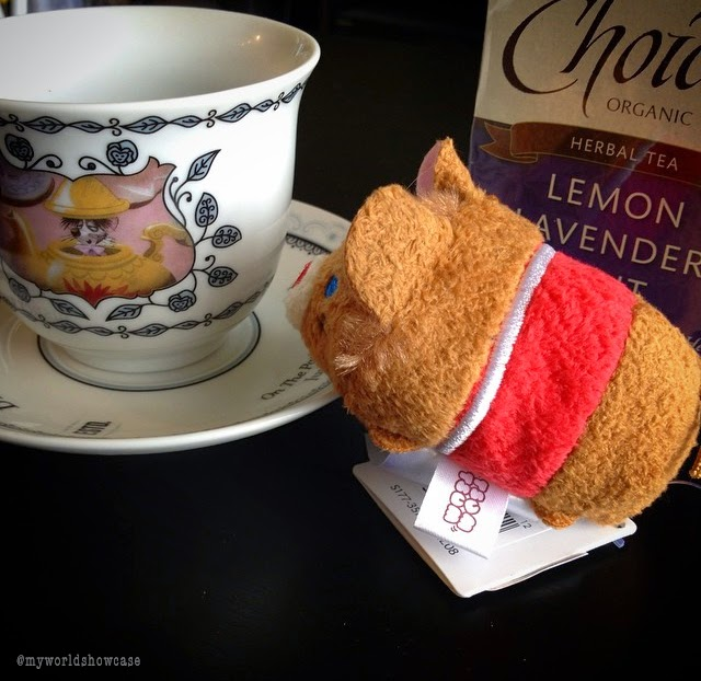 Dormouse Tsum Tsum with some tea