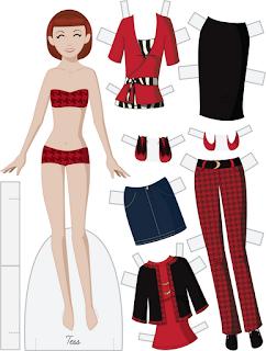 Tess - Fashion Friday Paper Doll