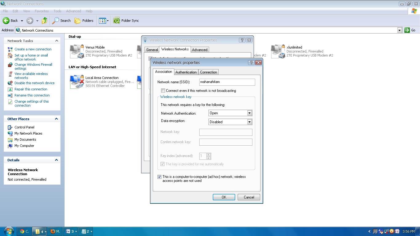 Cara Internetan Bareng Dengan 1 Modem Windows XP Via