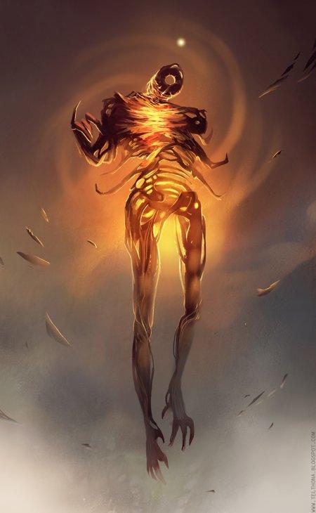 sandra duchiewicz telthona deviantart arte conceitual fantasia demônios anjos