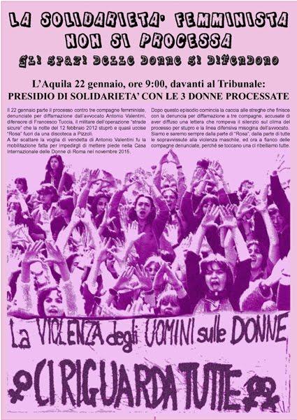 L'Aquila 22 gennaio: CI RIGUARDA TUTTE!