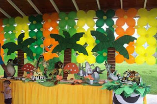 Madagascar children party ideas decoration