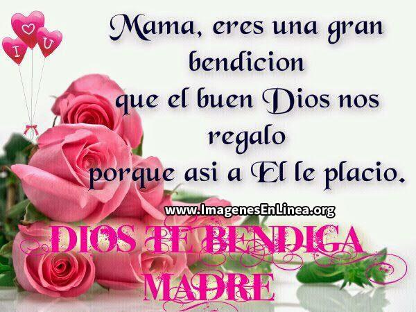 Mamá eres una gran bendición que el buen dios nos regalo