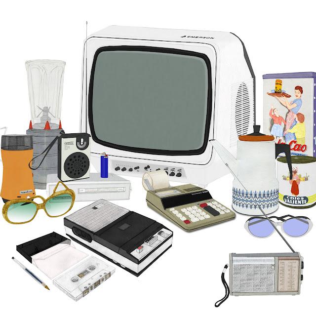 los setenta, electrodomesticos, dibujo