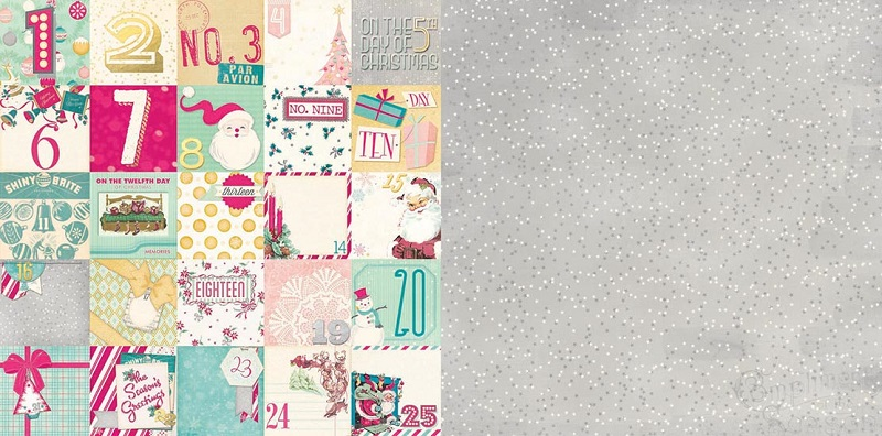 BoBunny Candy Cane Lane Countdown Paper