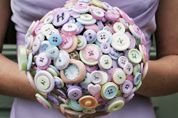 Love is vintage 'Candy' button bouquet