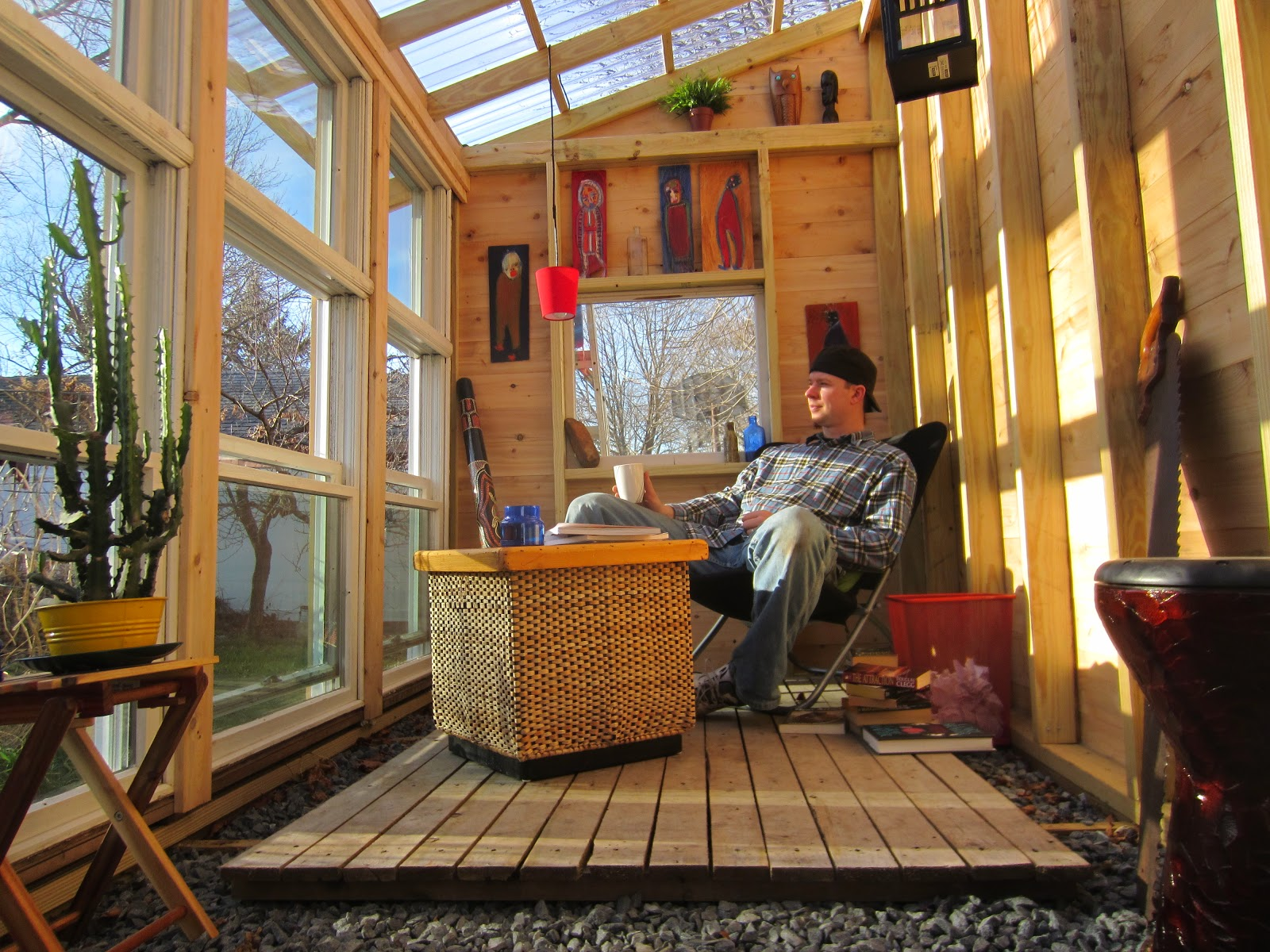 Build Tiny House In Backyard :  for lack of a better name a solar, writers shacktiny retreat house