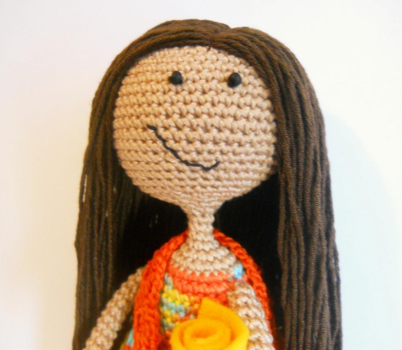 Вязаная кукла Полина