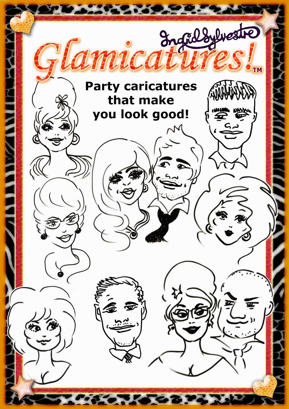 Glamicatures TM Caricatures by Ingrid Sylvestre
