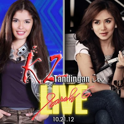 KZ Tandingan and Sarah Geronimo Face Off in Sarah G Live! this October 21