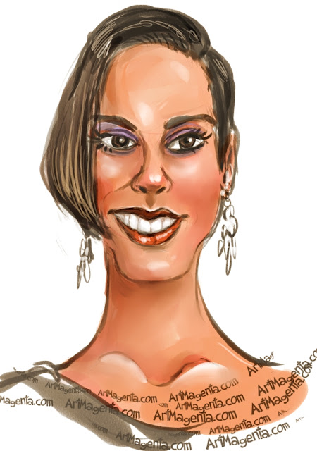 Alicia Keys is a caricature by Artmagenta