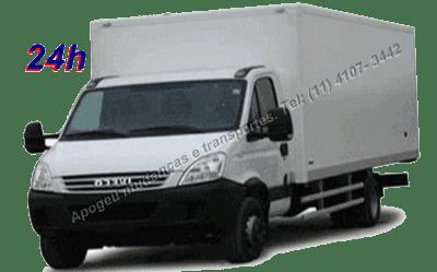 Caminhão de mudança três quarto baú á solução para pequenos e médios volumes