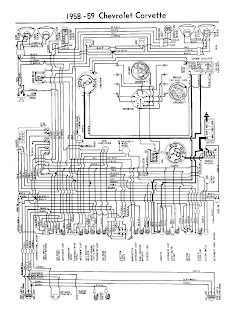 auto wiring diagram 1958 1959 chevrolet corvette wiring diagram this wiring diagram for 1958 trought 1959 chevrolet corvette the chevrolet corvette was first offered in 1953 and was the first all american sports car