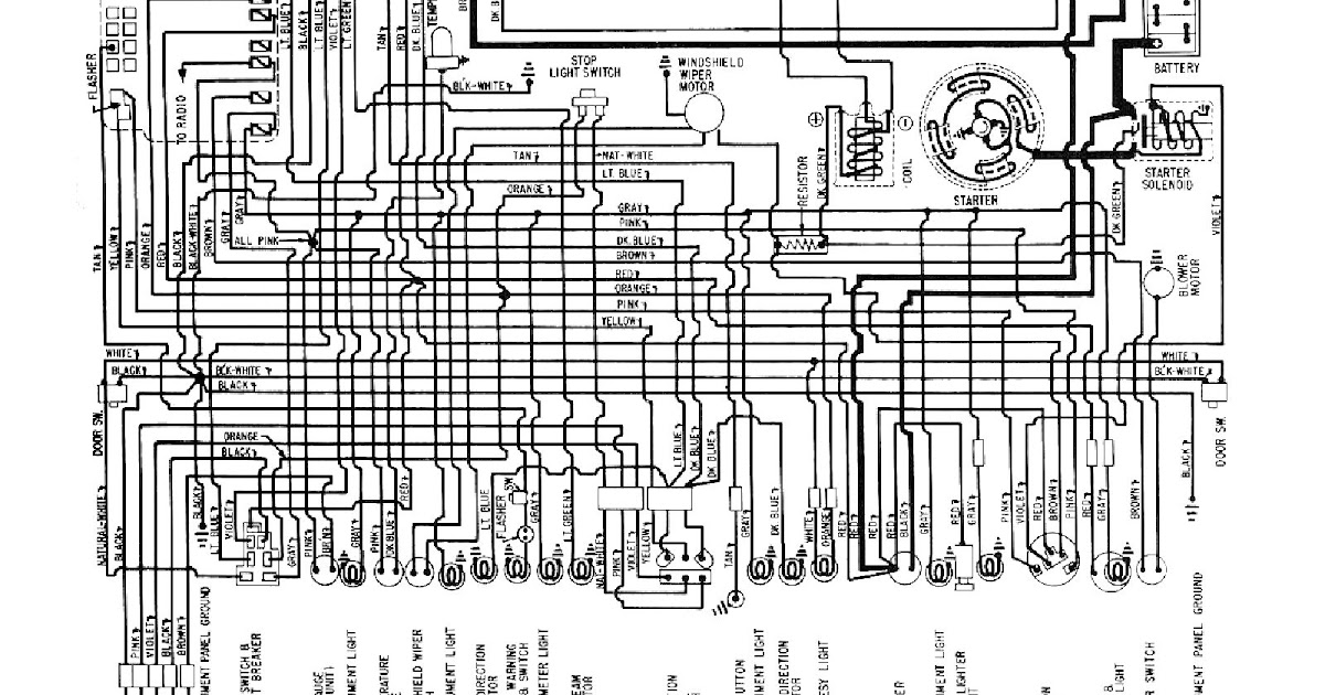 Free Auto Wiring Diagram: 1958-1959 Chevrolet Corvette ...