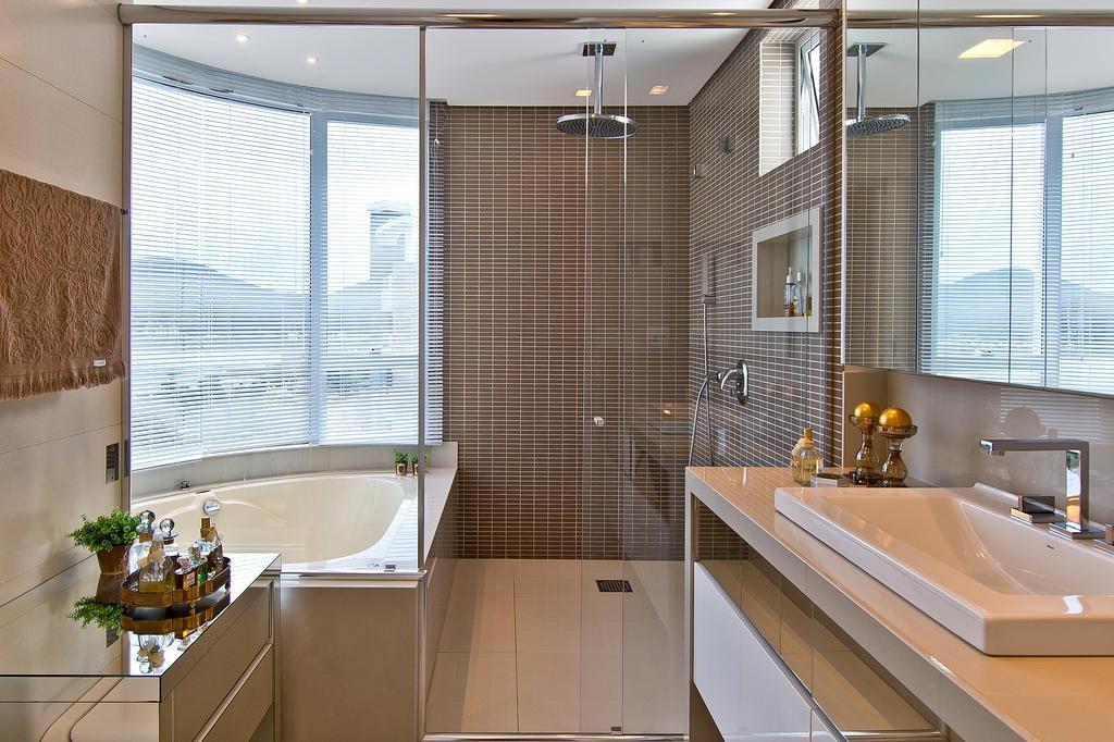 Cor fendi na decoração  veja ambientes maravilhosos decorados com essa tendê -> Decoracao De Banheiro Pq