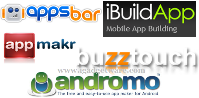 Top 5 Websites For Build Your Own Apps Free Igadgetware All About Social Media And Latest
