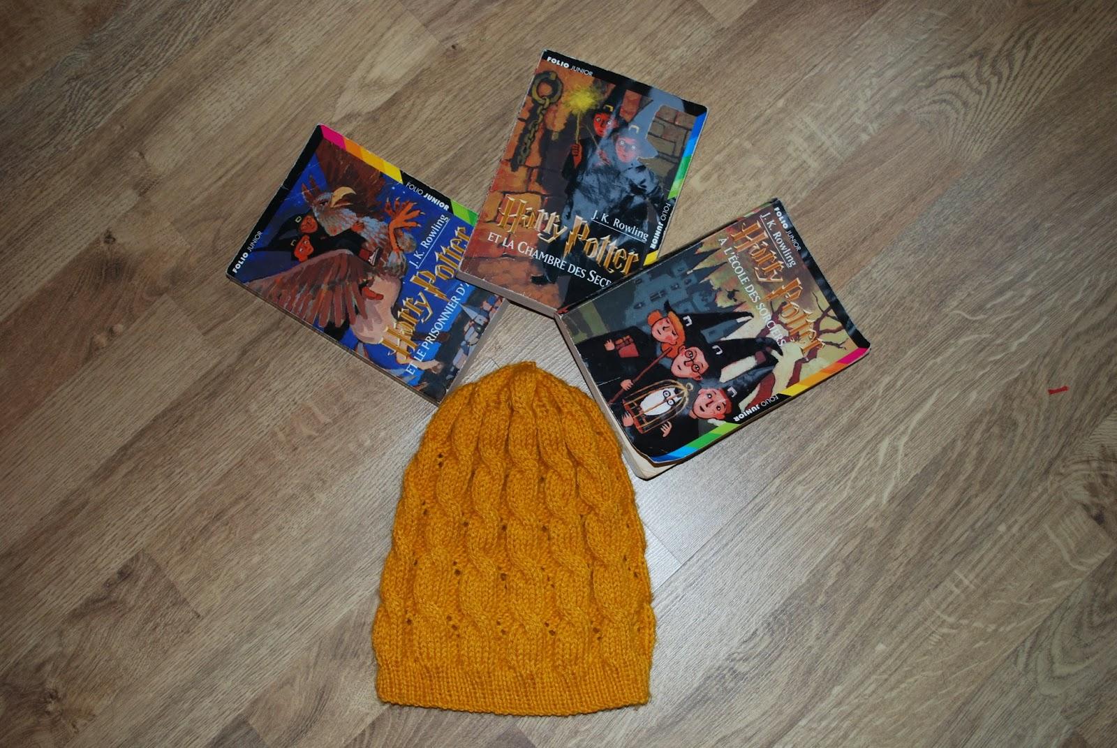 harry potter bonnet tricot livres