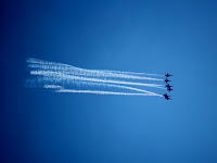 Navy Blue Angels fly over Heron's Forest Subdivisions weekly during season
