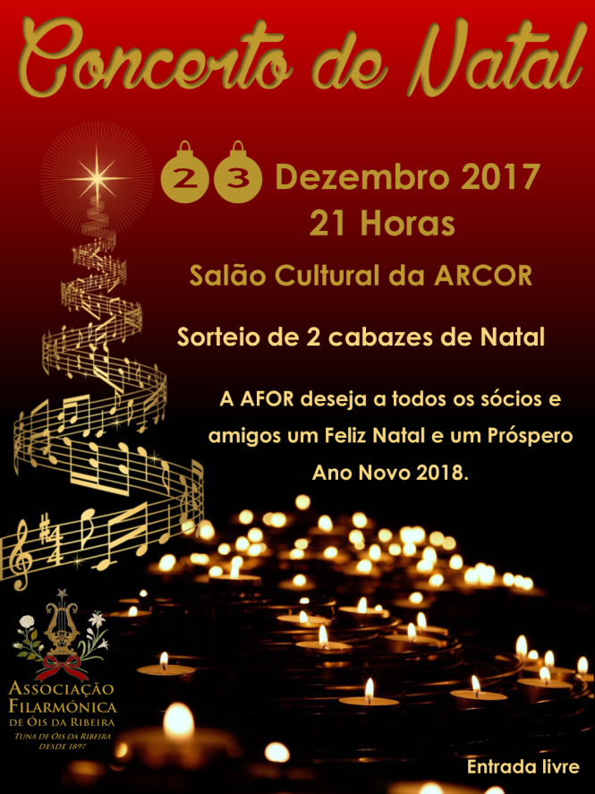Concerto de Natal da Tuna Musical / Associação Filarmónica de Óis da Ribeira