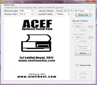 Download Aplikasi Gratis Cetak Foto ACEF Software