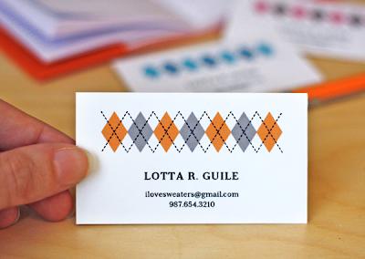 Printable business card freebie