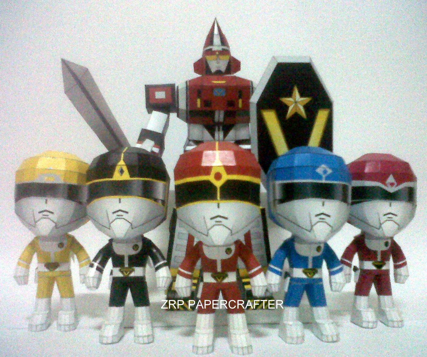 Dai Sentai Goggle V Papercraft