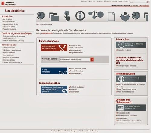 Living tic cat tic cat la seu electr nica de catalunya for Oficina virtual generalitat
